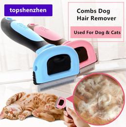 Escovas destacáveis on-line-Pet Grooming Escova Ferramenta Escova de Cabelo Removedor de Gato Pet Grooming Ferramentas Destacável Clipper Attachment Pet Trimmer Combs para o Gato Do Cão