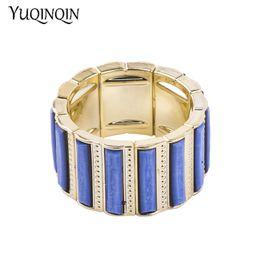 fc73ba8f2d3 Vintage Resin Gold Cuff Bracelets Bangles for Women New Fashion Stretch  Geometric Metal Acrylic Bracelet Simple Charm Jewelry