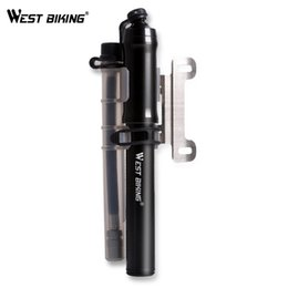 Wholesale Front Bike Forks - WEST BIKING Bike Pump for Mountian and Road Bike Tire Front Fork Cycling Pump Air Inflator 260 Psi High Pressure Bicycle Pump