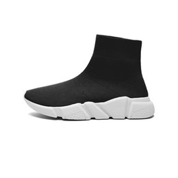 Wholesale Dropshipping Shoes - 2017 Black Sock Booties Sports Running Shoes,Training Sneakers Shoes,Speed Knit Sock High-Top Training Sneakers,Dropshipping Accepted XZ