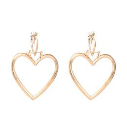 Argentina La moda al por mayor más nueva joyería en forma de corazón de oro o colores plateados rodio aro pendientes pendientes para los regalos de las mujeres Suministro