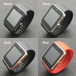 Reloj mp3 bluetooth resistente al agua online-Smart Watch GT08 SmartWatch With Camera Bluetooth Android Phone SIM Card MP3 Fitness Waterproof Smart Watch Wrist Clock