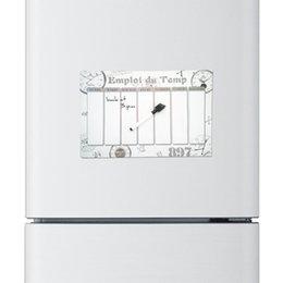 Wholesale Magnetic Board Fridge - 2pcs lot Emploi du Temp clock printed Custom fridge magnet message board home decor refrigerator decorative magnet sticker board