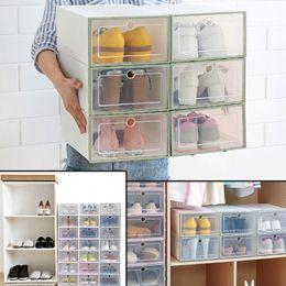Wholesale translucent briefs - Brief Translucent Plastic PP Drawer Case Shoe Storage Box Organizer Stackable Boxes Drawer Organizer