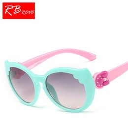 Wholesale Yellow Wrapped Candy - RBROVO 2018 Candy Color Child Sunglasses Outdoor Plastic Glasses UV400 Goggles HD Lenses Glasses Oculos De Sol