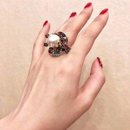 Frauen Messing perle Ringe Frauen Party Hochzeit Diamant Ring Luxus Charme Valentinstag Schmuck von Fabrikanten