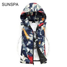 Wholesale Casual Male Camouflage Vest - SUNSPA Men's Camouflage Vest 2017 Winter Men Jacket Sleeveless Casual Male Female Camo Waistcoat Slim Fit Vest Brand Clothing