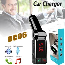 Deutschland BC06 Bluetooth MP3 Auto Ladegerät BT Wide Wireless Music Player Unterstützung TF-Karte Lautsprecher Mini Dual Ports Lade AUX FM Transmitter Universal Versorgung