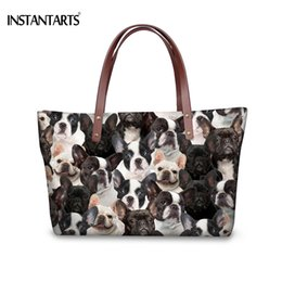 50fe8cd21ce9 INSTANTARTS Kawaii 3D Dog French Bulldog Boston Terrier Print Women Large  Tote Bag Fashion Lady Shoulder Bags Travel Beach Bags