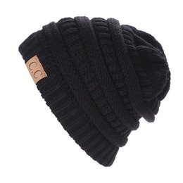 New CC Bonnet Beanies Knitted Winter Caps Skullies Winter Hats For men women  Outdoor Ski Sports Beanie Gorras 1bf0868af174