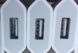 Adaptador de manzana original online-OEM original A +++ Calidad 5V 1A 5W EE. UU. / UE Adaptador de enchufe USB Cargador de corriente AC Adaptador de pared A1385 A1400 Con caja de venta al por menor