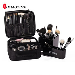 Переносные макияж онлайн-New Women Brand Cosmetic Bag Vanity Travel High Quality Box Cosmetic Case  Bag Organizer Beautician  Portable