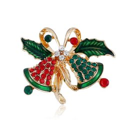 rhinestone brooches sold wholesale Coupons - Hot selling high-quality bow  bell girls women brooch c813a4a21bac