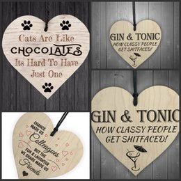 Wholesale small wholesale umbrellas - Heart Shaped Small Pendant Woodiness Excellent Workmanship Home Furnishing Adornment Novel Style High Quality Factory Direct 1 5ls X