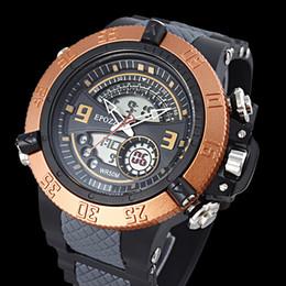 23181858e9d EPOZZ anel de ouro grande rosto grande mostrador do relógio homens  analógico digital dual display horas do relógio masculino relogio masculino  Hodinky ...