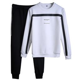 Wholesale Browning Sweat Pants - Tracksuits Men Winter 2018 Tracksuit Set Solid Sweat Suit Men Track Suits Set Coat +Pants Outwear Sportssuit Jacket And Sweatpant