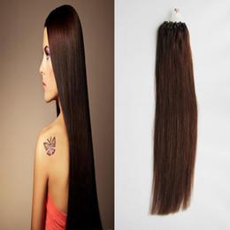 100 г прямой петли микро кольцо волос 100% человека микро шарик ссылки машина сделала Реми наращивание волос 1 г / стенд микро ссылка человеческих волос расширения от