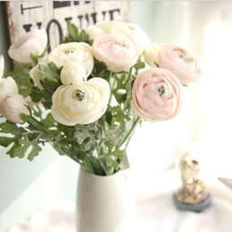 Wholesale Pure Restaurant - Lotus Flowers Light pink Pure Milk White Hydrangeas Colors Fake Flowers Elegant Gifts for Wedding Centerpieces Home Party Dinning Restaurant