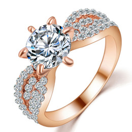 Wholesale Factory Side - Korean version of the new six-claw zircon ring female fashion ring jewelry ring jewelry factory wholesale
