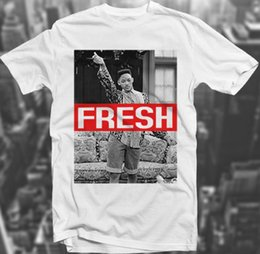 Wholesale Graphic Designs T Shirts - Wholesale- Fresh Prince Swagg 90's Sk8r Hipster Will Smith Trill White Polyester T shirt Wholesale Summer Fashion Graphics Design Tees