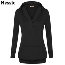 Wholesale Yellow Sweatshirt Ladies - Messic 2018 Spring Women Hoodies Female Warm Hooded Sweatshirt Long Sleeve Pocket Casual Loose Pullovers Tops Ladies Hoody Tunic