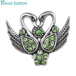D04105 venta al por mayor Rivca Snap Button Jewelry más nuevo bricolaje 18mm cisne buho árbol de la vida botón a presión para mujeres de alta calidad NOOSA pedazo desde fabricantes