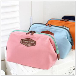 Wholesale travel bags korea - 4 Colors Women Zip Pouch Functional Travel Tooth Washing Cosmetic Bag Korea Make Up Pouch CCA8962 60pcs