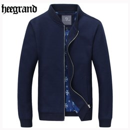 Wholesale black hee - HEE GRAND 2017 Stand Collar Knit Sweater Spring & Autumn New Arrival Top Selling Slim Zipper Men's Jacket M~5XL MWJ2431