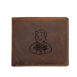 Portefeuilles de jeux en Ligne-Can Custom Name Portefeuilles Hommes Jeu Fallout Sacs À Main Porte-Cartes RFID Dollar Prix Petits Portefeuilles En Cuir Petits Portefeuilles