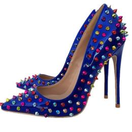 357186c7ebf39c Heiße Verkäufe Nieten Rote Untere Frauen High Heels