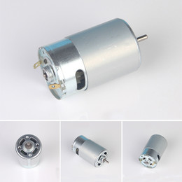 Wholesale High Torque Electric Motors - RS-550 Motor DC 12V 24V 5800RPM High Speed Large Torque DIY RC Car Boat Model low noise