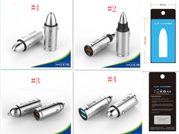 Wholesale android brand smartphone - Bullet Stainless steel car charger For iPhone, Samsung, LG, HTC Android Smartphone Wireless In-Car FM Adapter Car Kit with USB Car Charger