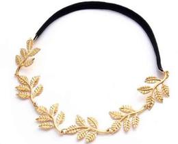 Livraison gratuite! Vente chaude Romantique Olive Branch Feuille Décoration Hairband Bandeau Or Bronze En Gros ? partir de fabricateur