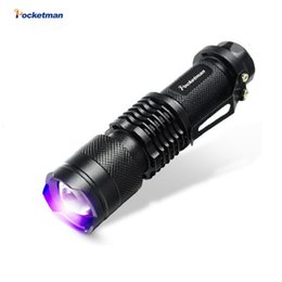 Wholesale Ultrafire Cree Led - 2017 New Cree Led Uv Flashlight Sk68 Purple Violet Light Uv 395nm Torch Lamp Free Shipping