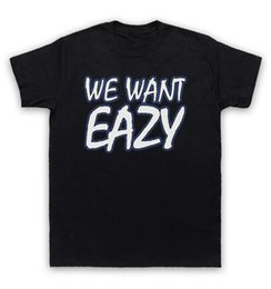 Wholesale Printing Text - Eazy E T Shirt We Want Eazy Text
