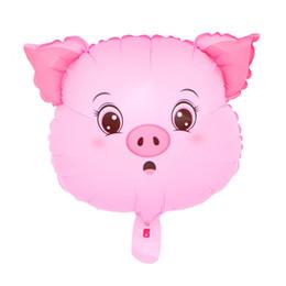 Animal Cabeça Foil Balões Festa de Aniversário Do Bebê Porco Urso Cão Coelho Macaco Veados Porco Cabeça Hélio Tema Aniversário Decoração de Natal Por Atacado de