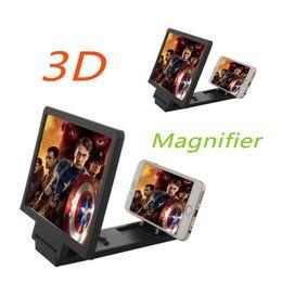 Soporte móvil online-F1 Mobile Phone Screen Magnifier Stick Holder 3D HD Amplificador de teléfono móvil de pantalla ampliada con soporte de soporte plegable MOQ: 1Pcs