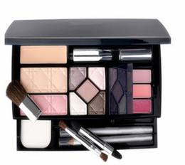 Herramientas de taller online-Nuevo polvo de maquillaje exclusivo de Fanous Travel paleta + sombra de ojos + lápiz de cejas + rímel + colorete + labio grueso con herramientas de maquillaje compras libres