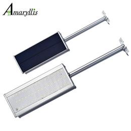 Wholesale Microwave Sensors - New Arrival 48led Microwave Radar Motion Sensor Solar Lamp 800LM Highlight Waterproof Street Outdoor Wall Lights