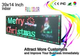 """Wholesale moving led signs - 39""""x14"""" RGB Full color P5 Indoor LED Message Sign Moving Scrolling led Display"""