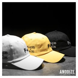 Wholesale Face Popping - Hot Recommended Design Places+Faces Brand ball caps hip pop street fashion 2 color black and white men women baseball caps rapper P+F hats