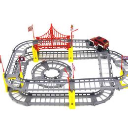 DIY разнообразие железнодорожных автомобилей электрические головоломки игрушки образовательные игрушки для детей от