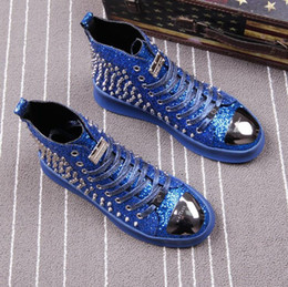 brautkleider helfen Rabatt Board Schuhe, High Help Herrenschuhe, individuelle Nietschuhe, modische Schuhe. Lässige Walking Brautkleider Schuhe 37-44x71