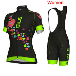 Wholesale women bike suit - 2018 ALE Women Cycling Jersey Suit New pro team Ropa Ciclismo Mujer Summer Breathable Mountain Bike Short Sleeve Cycling Clothing Set F2606