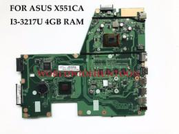 Wholesale ram board - High quality Laptop Motherboard for ASUS X551CA Main board REV2.2 SLJ8E HM76 SR0N9 I3-3217U 4GB RAM 100% Fully Tested