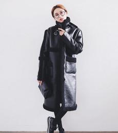 Wholesale Korea Winter Woman Jacket - 2017 Hot Sale Jacket Coat Korea Elegant Ladies Faux Leather Long Parka Coats for Women Cashmere Lining Winter Outwear Overcoat