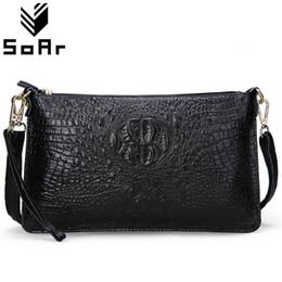 SoAr Women Bag Genuine Leather Crocodile Pattern Handbags Women Messenger  Bags Crossbody Female Small Shoulder Bag Clutch Brand 6b33e75cb5c91
