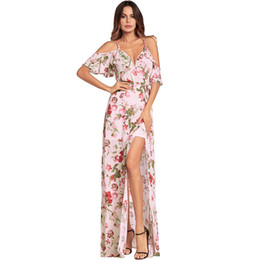 2018 Spring Xia Xinkuan Suit-dress Camisole V Lead High Waist Printing  Dress Longuette clothing ladies casual dresses for women 2015 woman aa84b5155