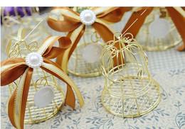Birdcage wedding favor en Ligne-100pcs Unique Simple Cage à Oiseaux En Métal Oiseau Cage À Boîtes Boîtes À Bonbons Événements De Mariage Noël Cadeau De Saint Valentin Faveur