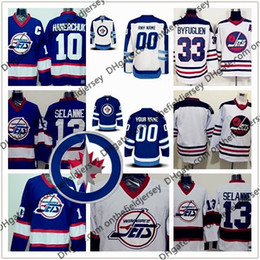 6eb76fa91cb Custom Winnipeg Jets NEW Brand  26 Blake Wheeler (C) 29 Patrik Laine 33  Dustin Byfuglie n (A) Any Number Name Hockey Jerseys S-3XL